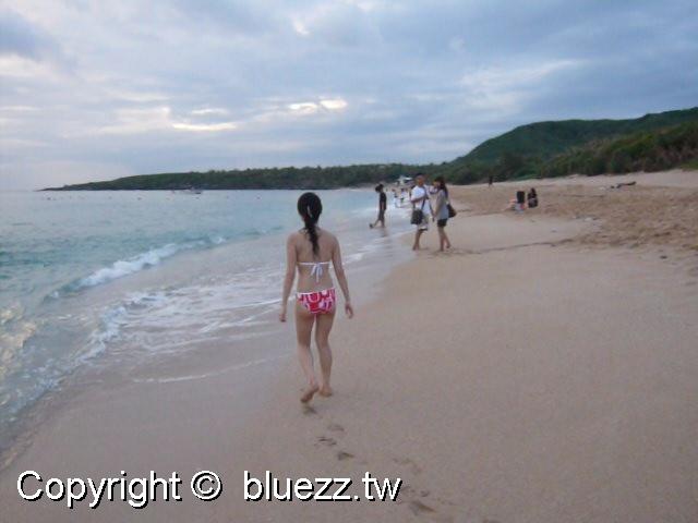 墾丁白沙灣-游泳,夕陽