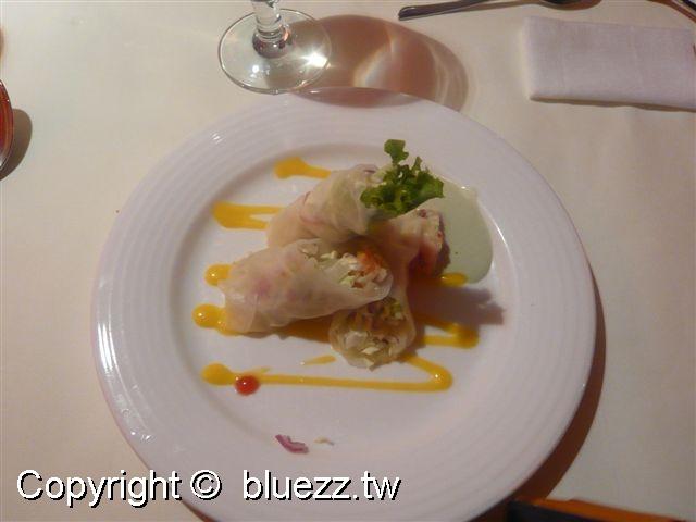 西堤牛排館沙拉-檸檬芥末海鮮捲