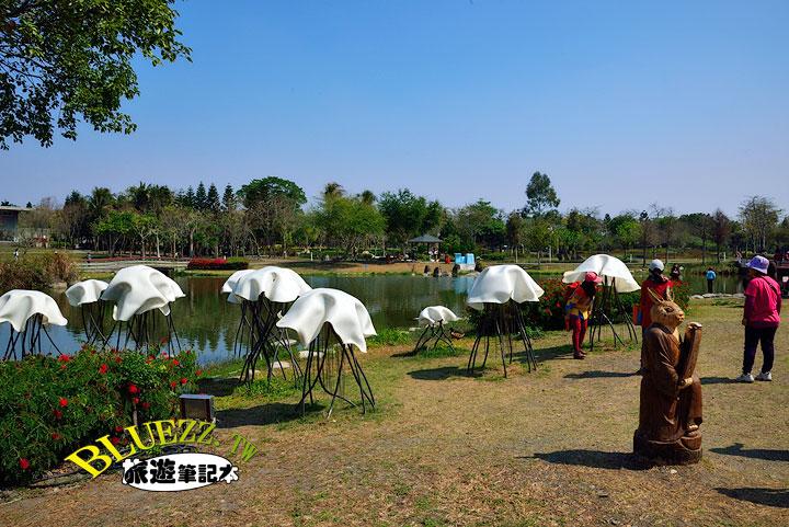 費茲洛公園 生態池旁