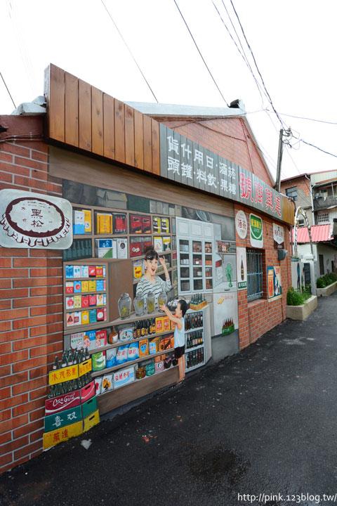 台中沙鹿「美仁里彩繪巷」,全台首創屬於台灣味的復古彩繪。-DSC_1181.jpg