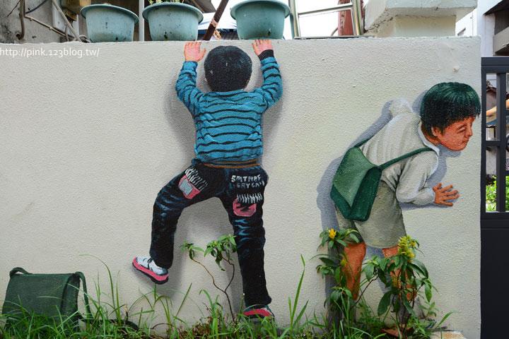 台中沙鹿「美仁里彩繪巷」,全台首創屬於台灣味的復古彩繪。-DSC_1211.jpg