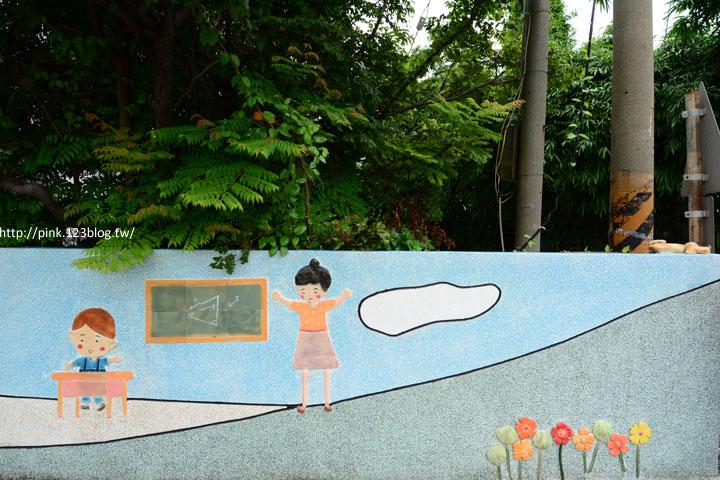 台中龍井「龍港國小」。充滿童趣的彩繪及拼貼,超可愛!-DSC_1450.jpg