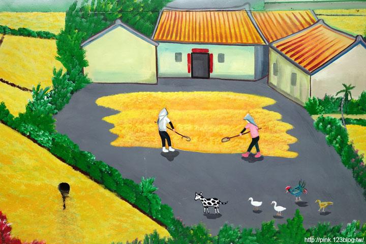 稻谷彩绘图片