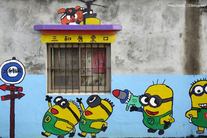 【彰化福興景點】三和社區西瓜彩繪村。每一個卡通人物,都是西瓜的代言人,超萌!-DSC02314.jpg