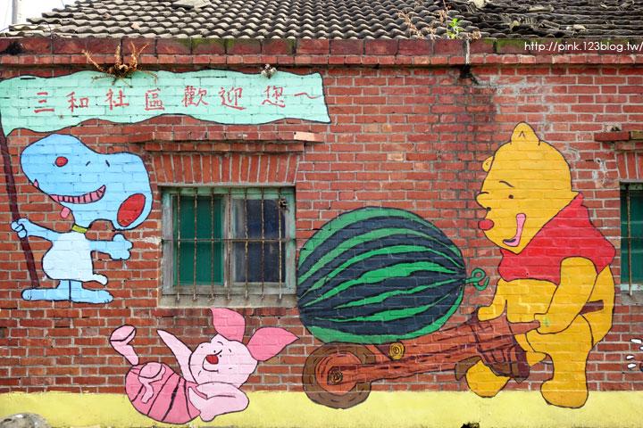 【彰化福興景點】三和社區西瓜彩繪村。每一個卡通人物,都是西瓜的代言人,超萌!-DSC02323.jpg