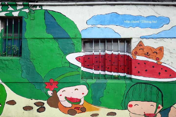 【彰化福興景點】三和社區西瓜彩繪村。每一個卡通人物,都是西瓜的代言人,超萌!-DSC02330.jpg
