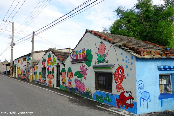 【彰化福興景點】三和社區西瓜彩繪村。每一個卡通人物,都是西瓜的代言人,超萌!-DSC02344.jpg