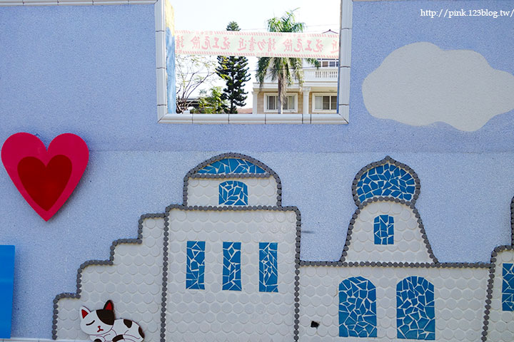 【彰化大村】地中海風格之雙心步道。遊走步道甜蜜滿分!(雙心池塘旁)-DSC04329.jpg