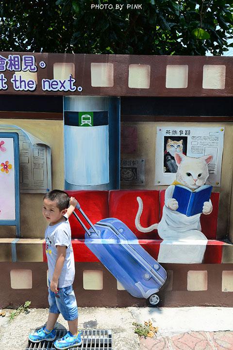 【嘉義布袋景點】布新國小貓咪彩繪牆。讓我們一起見證喵星人的愛情故事!(就在高跟鞋教堂旁)-DSC_1647.jpg