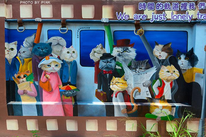 【嘉義布袋景點】布新國小貓咪彩繪牆。讓我們一起見證喵星人的愛情故事!(就在高跟鞋教堂旁)-DSC_1652.jpg