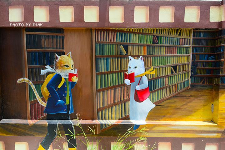 【嘉義布袋景點】布新國小貓咪彩繪牆。讓我們一起見證喵星人的愛情故事!(就在高跟鞋教堂旁)-DSC_1663.jpg