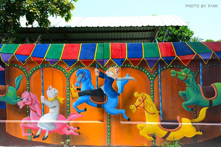 【嘉義布袋景點】布新國小貓咪彩繪牆。讓我們一起見證喵星人的愛情故事!(就在高跟鞋教堂旁)-DSC_1668.jpg