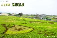 花壇稻田彩繪