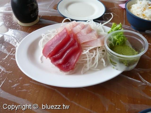 墾丁阿利海產店生魚片150元