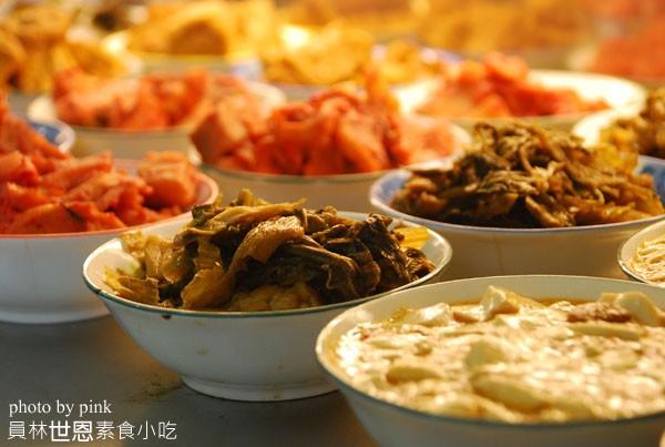 員林素食小吃-世恩素食.竹炭麵