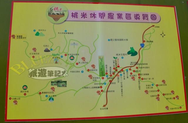 桃米休閒農業區導覽圖