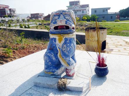后水頭風獅爺(48公分,石雕、蹲距)