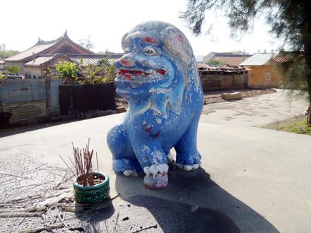 后水頭風獅爺(46公分,石雕、蹲距)