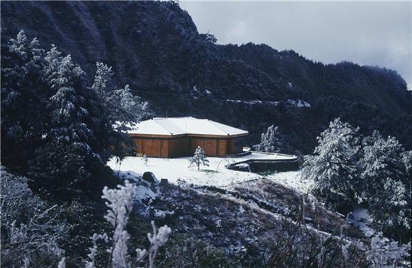 鹿林山莊雪景