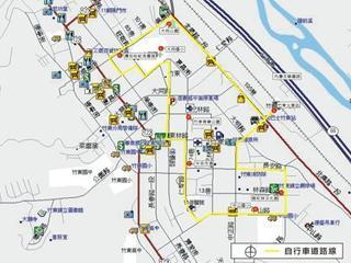 竹東鎮-市區自行車道路線