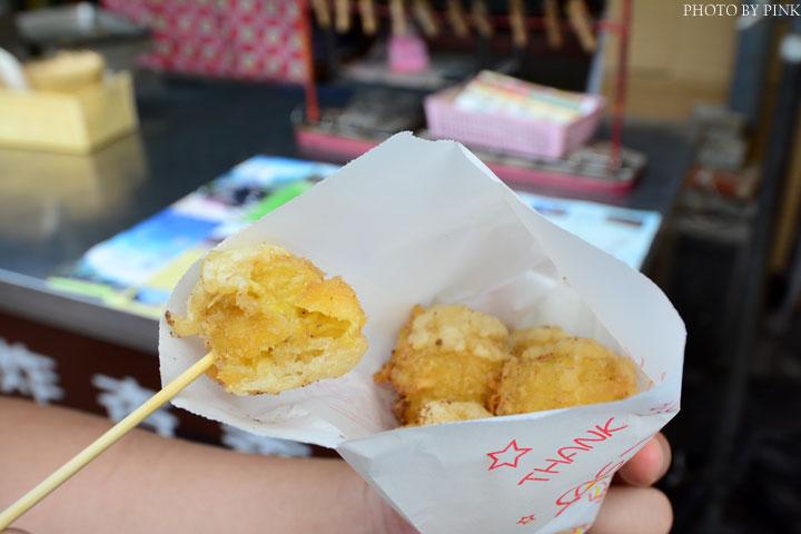 【集集美食】集集火車站旁無名炸香蕉vs琳家元香蕉酥。兩家比拼,哪一家最好-DSC_0488.jpg