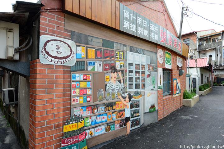 台中沙鹿「美仁里彩繪巷」,全台首創屬於台灣味的復古彩繪。-DSC_1183.jpg
