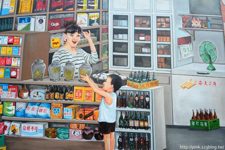 台中沙鹿「美仁里彩繪巷」,全台首創屬於台灣味的復古彩繪。-DSC_1186.jpg