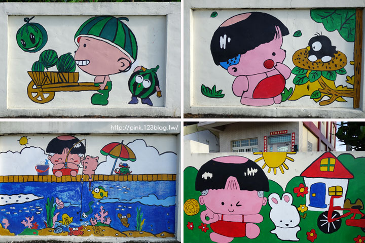 【彰化福興景點】三和社區西瓜彩繪村。每一個卡通人物,都是西瓜的代言人,超萌!-2.jpg