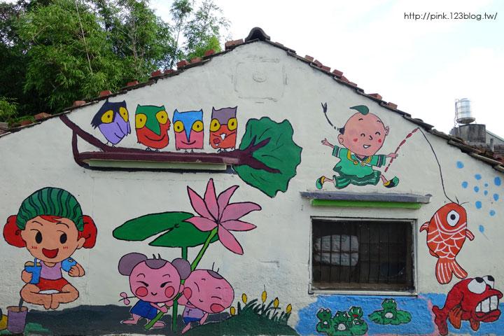 【彰化福興景點】三和社區西瓜彩繪村。每一個卡通人物,都是西瓜的代言人,超萌!-DSC02342.jpg