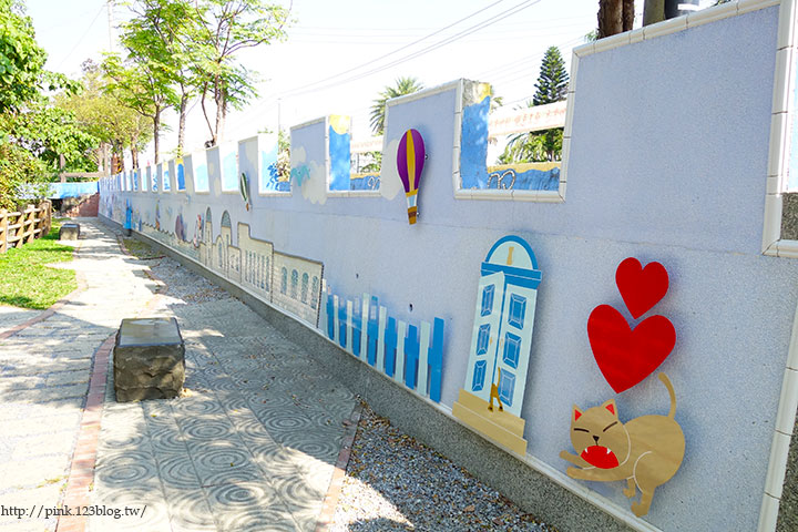 【彰化大村】地中海風格之雙心步道。遊走步道甜蜜滿分!(雙心池塘旁)-DSC04301.jpg