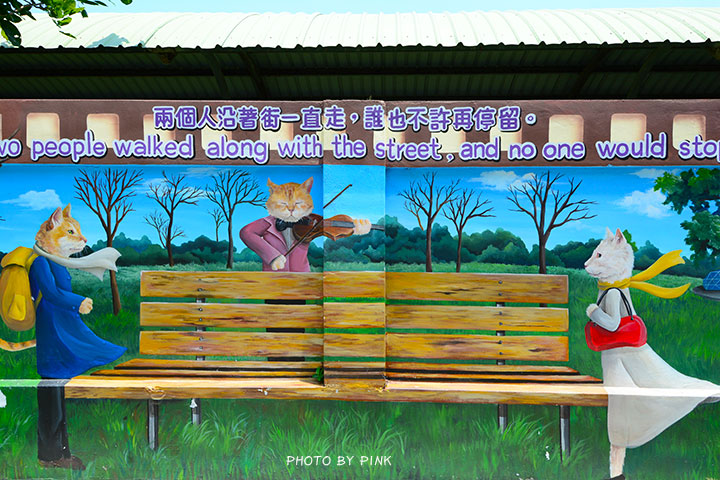 【嘉義布袋景點】布新國小貓咪彩繪牆。讓我們一起見證喵星人的愛情故事!(就在高跟鞋教堂旁)-DSC_1660.jpg