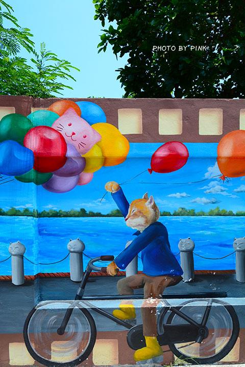 【嘉義布袋景點】布新國小貓咪彩繪牆。讓我們一起見證喵星人的愛情故事!(就在高跟鞋教堂旁)-DSC_1672.jpg