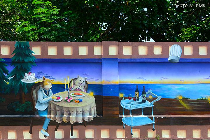 【嘉義布袋景點】布新國小貓咪彩繪牆。讓我們一起見證喵星人的愛情故事!(就在高跟鞋教堂旁)-DSC_1682.jpg