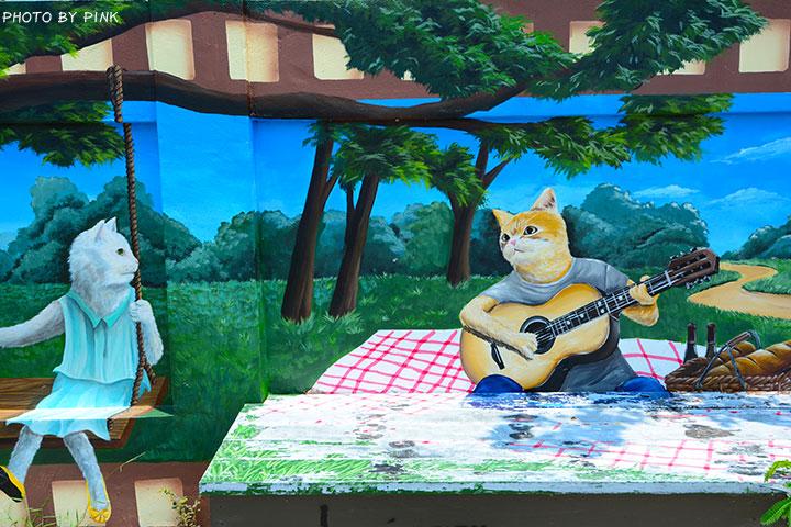 【嘉義布袋景點】布新國小貓咪彩繪牆。讓我們一起見證喵星人的愛情故事!(就在高跟鞋教堂旁)-DSC_1685.jpg