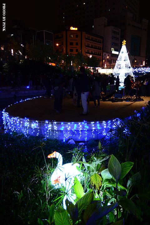 【2017台中聖誕節】柳川藍帶水岸。全台唯一水中聖誕樹,絕美閃耀岸河畔!-DSC_5907.jpg