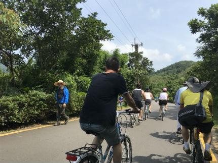 舊草嶺環狀自行車道-人潮