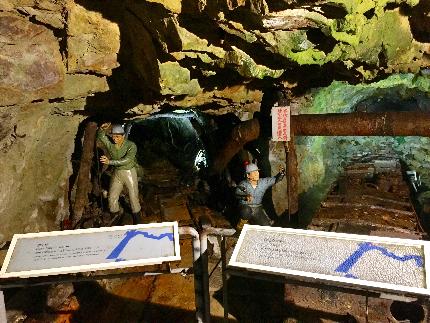 本山五坑坑道內模擬舊時情境