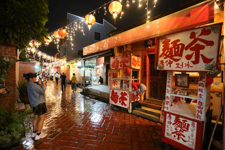 鹿港老街夜景